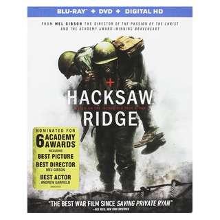 🆕 Hacksaw Ridge Blu Ray + DVD