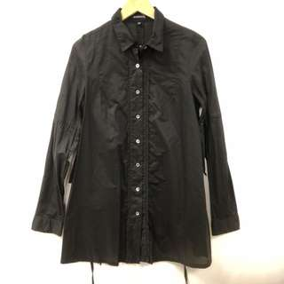 Ann Demeulemeester black long shirt size 36