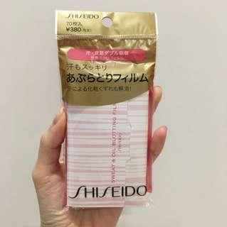 Shiseido oil & sweating blotting sheet