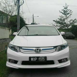 Honda Civic 1.5 Hybrid  Year Make 2012/2013