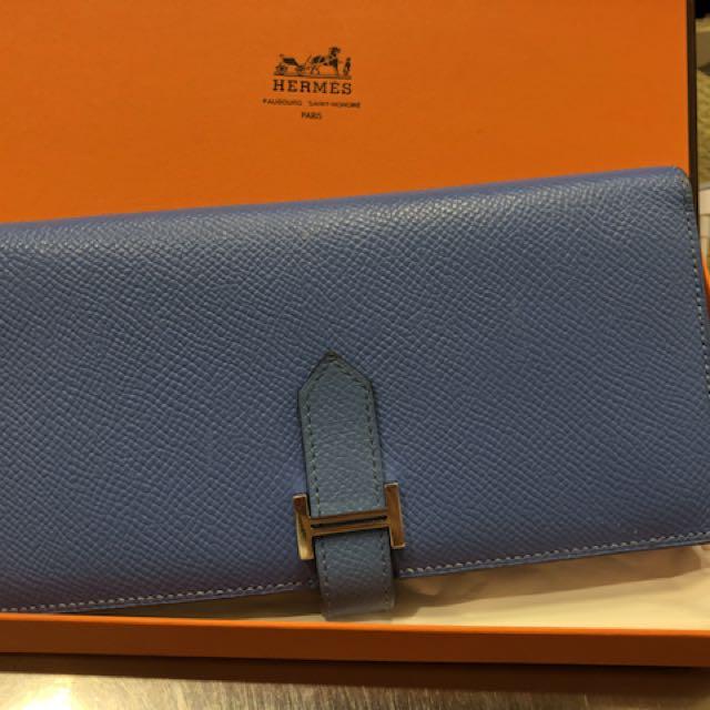 2015 購買Hermes 藍色H長夾