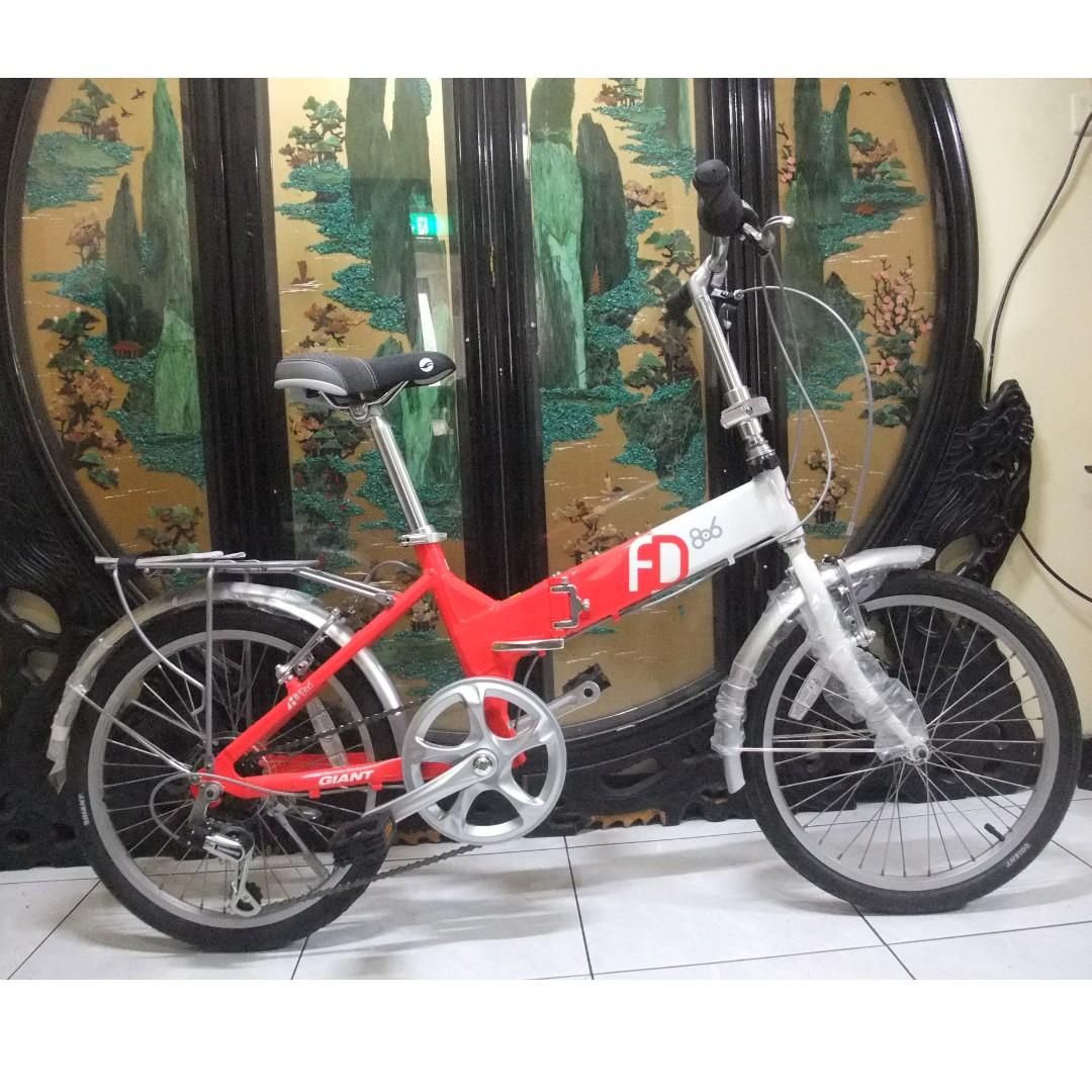 2017全新鋁合金20吋giant捷安特FD806 shimano 6段變速折摺疊腳踏車.桃園市桃鶯路附近自取aluminum Folding bike