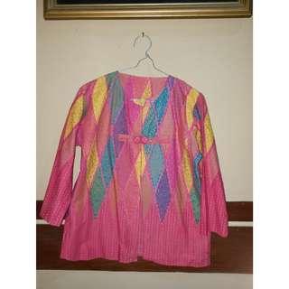 Blazer Batik Pink