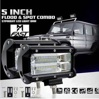5 Inch 72W LED Work Light Bar Flood Fog Lamp