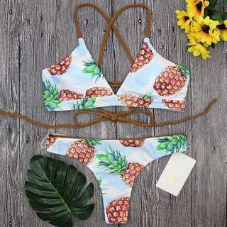Pineapple Push Up Bikini Set