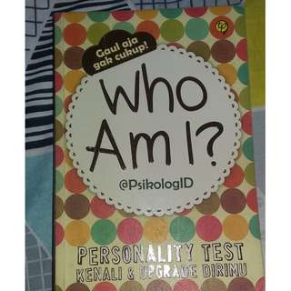 Buku Psikotes Who Am I?