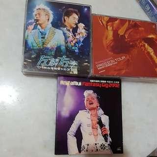 VCD karaoke/MTV. $5 each. $12 for all.