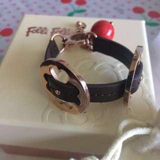 35.Folli folli手飾手環配件全新紅色珠啡金扣系列,送禮佳品
