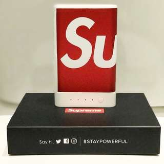 Supreme mophie encore plus 10k Charger Red