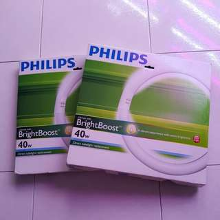 Philips Lifemax Tubelight circular with bright boost 40w x2nos