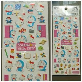 Doraemon and Hello Kitty Collaboration Stickers