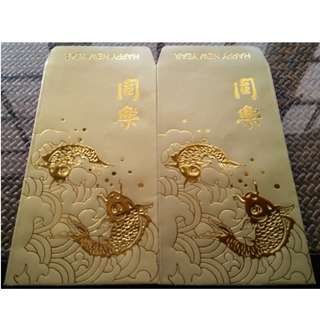 6 pcs Vintage Tung Lok Group Golden Koi Red Packet / Ang Pao Pow Pau Bao