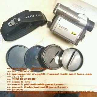 >>panasonic nvgs50. hassel belt and lens cap