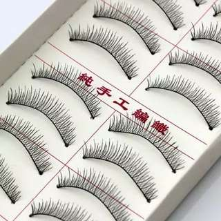 Lashes (10 pairs in a box, handmade in Taiwan)