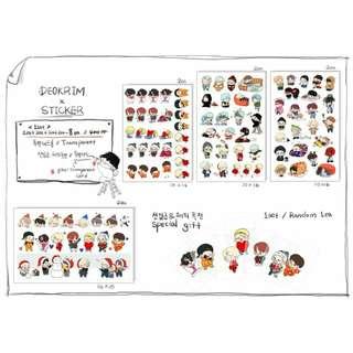 [SHARE] BTS Deokrim × Sticker Set