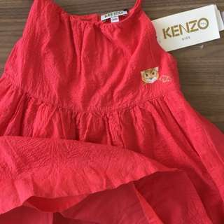ORIGINAL Kenzo Kids Dark Orange Dress