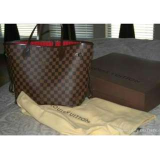 louis vuitton never fall handbag