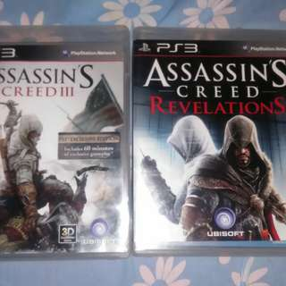 PS3 Assassins creed 3 and Revelations