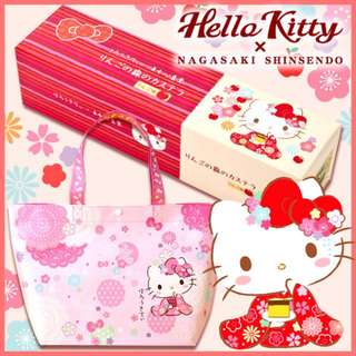(預訂賀年禮盒)長崎心泉堂-Hello Kitty蘋果蜂蜜蛋糕10件裝(付限定環保袋)