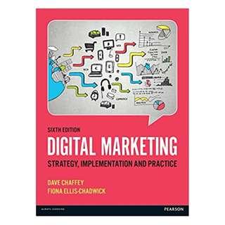 Digital Marketing 6th Edition BY Dave Chaffey  (Author), Fiona Ellis-Chadwick (Author)