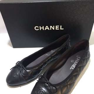 Chanel Black Flats