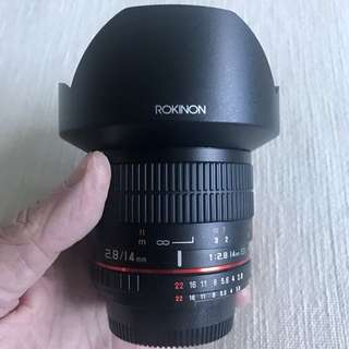 Ultra-wide 14mm f/2.8 for Nikon DSLR