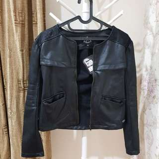 (NEW) Leather Jacket Urbie with tag