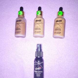 foundtion + conclear & makeup spray