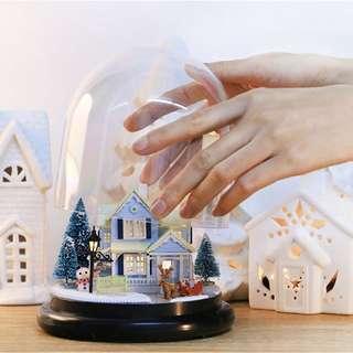 "GIFTIDEA ""Nordic Fairy Tale"" Acrylic Cover Ball Birthday DIY Model LED Kits Doll House"