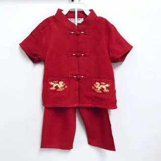 Traditional Chinese Costume Boy (Red) CNY