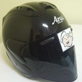 1601--- TSR RAM4 Helmet Black with Dark Tinted Visor CONVERT TO ARAI 🦀 For SALE, Yamaha Jupiter, Spark, Sniper,, Honda, SUZUKI