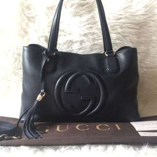 Gucci Soho Navy Working Tote