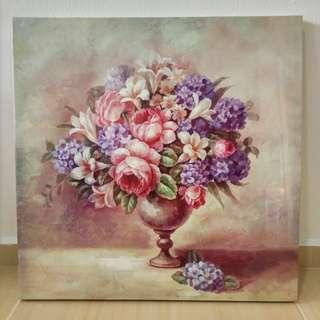 Flower wall painting artwork
