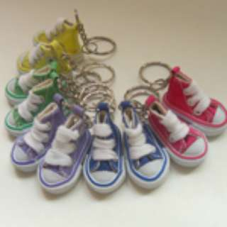 Mini Canvas Shoe Keychain