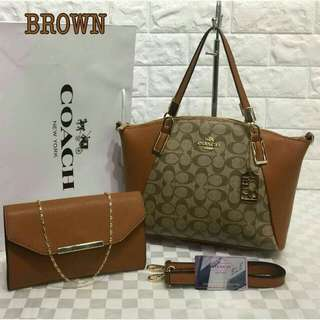 Coach Tote Bag Brown