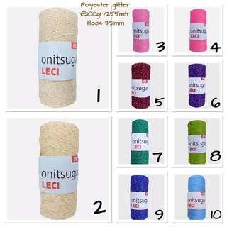 Polyester yarn glitter