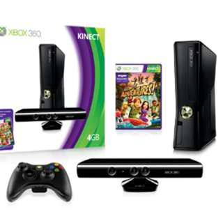 XBOX 360 4GB CONSOLE WITH KINECT AND GAMES