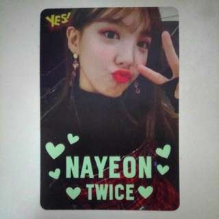 Twice Nayeon 娜璉 Yes card 夜光卡