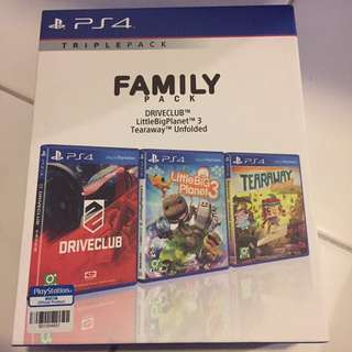 Family Pack PS4 game set