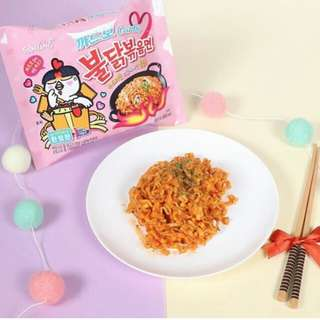 [In-stock] Samyang Carbo cabonara limited editions pink Korean spicy famous instant noodles
