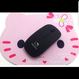 Hello Kitty wireless mouse in black $15