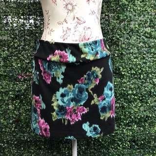 Forever 21 Floral Bandage Skirt