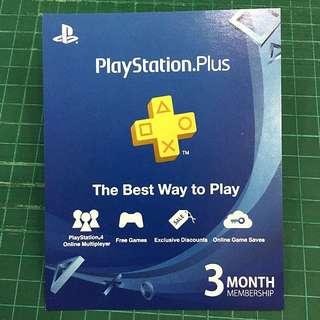 [PS4] 3 Months PS Plus Membership