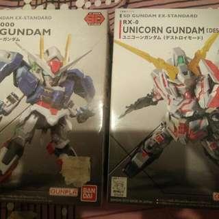 Unbuilt Gundam Figurines