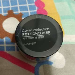 The saem cover perfection pot concealer #02 遮瑕膏