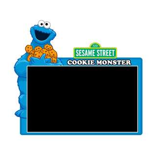 Road Tax Sticker Sesame Street - Cookie Monster