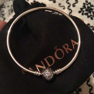 Pandora Winter Silver Bangle