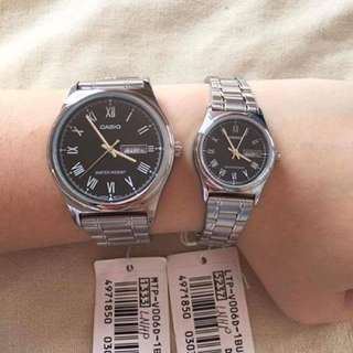 Authentic casio couple watch