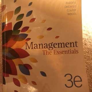 Management the essentials textbook