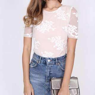 MDS BNWT Genevia Top in Off White